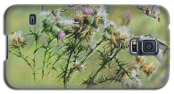 Goldfinches On Thistle Galaxy S5 Case