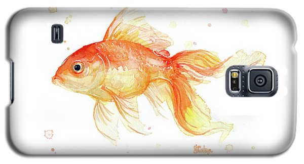 Goldfish Painting Watercolor Galaxy S5 Case