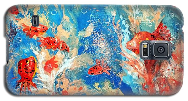 Goldfish Party Galaxy S5 Case