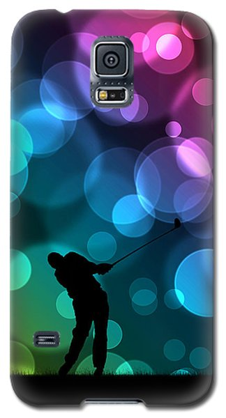 Golfer Driving Bokeh Graphic Galaxy S5 Case by Phil Perkins