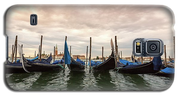 Galaxy S5 Case featuring the photograph Gondolas In Venice by Melanie Alexandra Price