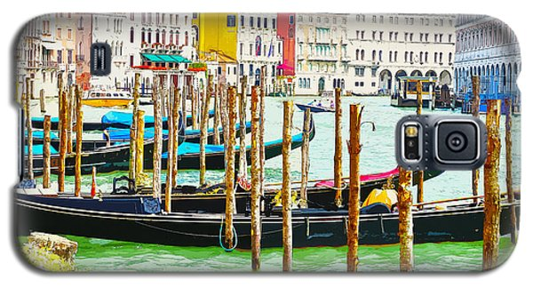 Gondolas On The Grand Canal Venice Italy Galaxy S5 Case