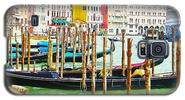 Gondolas On The Grand Canal Venice Italy Galaxy S5 Case