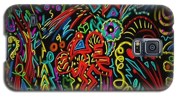 Galaxy S5 Case featuring the painting Gone Wild by Kevin Caudill