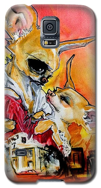Gone With The Wind Chihuahuas Caricature Art Print Galaxy S5 Case