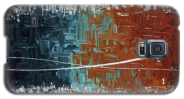 Galaxy S5 Case featuring the painting Good Feeling - Abstract Art by Carmen Guedez
