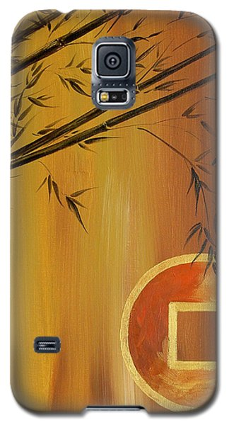 Galaxy S5 Case featuring the painting Good Fortune Bamboo 2 by Dina Dargo
