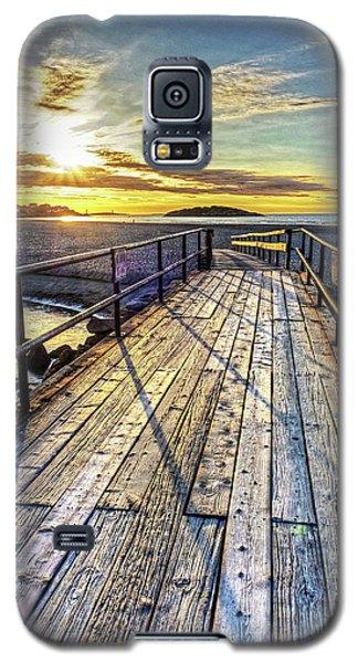 Good Harbor Beach Footbridge Shadows Galaxy S5 Case