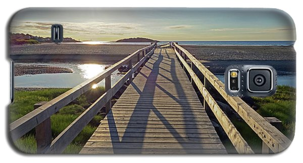 Good Harbor Beach Footbridge Sunny Shadow Galaxy S5 Case