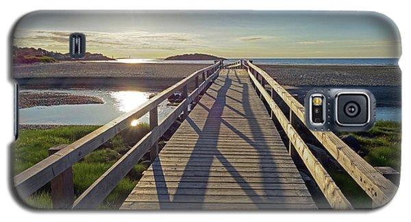 Good Harbor Beach Footbridge Sunny Shadow Galaxy S5 Case