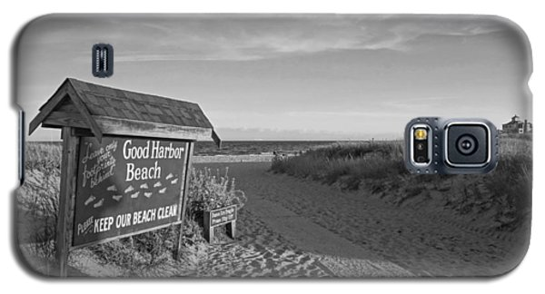 Good Harbor Sign At Sunset Black And White Galaxy S5 Case