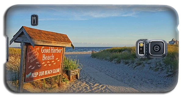 Good Harbor Sign At Sunset Galaxy S5 Case