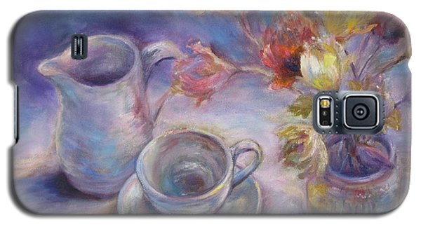 Galaxy S5 Case featuring the painting Good Morning by Bonnie Goedecke