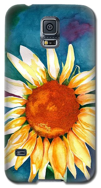 Galaxy S5 Case featuring the painting Good Morning Sunflower by Sharon Mick