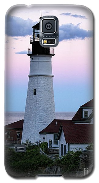 Galaxy S5 Case featuring the photograph Goodnight Moon, Goodnight Lighthouse  -98588 by John Bald