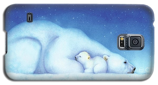 Polar Bear Galaxy S5 Case - Arctic Bears, Goodnight Nanook by Tracy Herrmann
