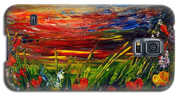Galaxy S5 Case featuring the painting Goodnight... by Teresa Wegrzyn