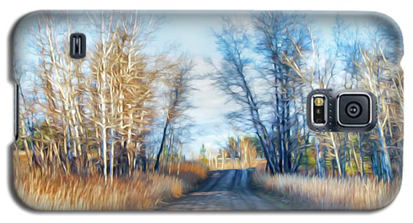 Goose Lake Road Galaxy S5 Case by Theresa Tahara