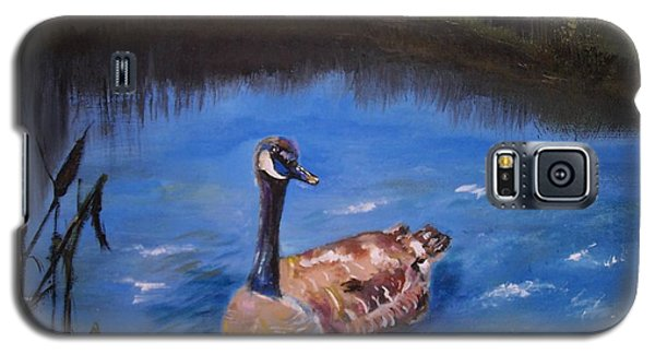Galaxy S5 Case featuring the painting Goose by Leslie Allen