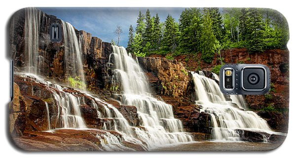 Galaxy S5 Case featuring the photograph Gooseberry Falls by Rikk Flohr