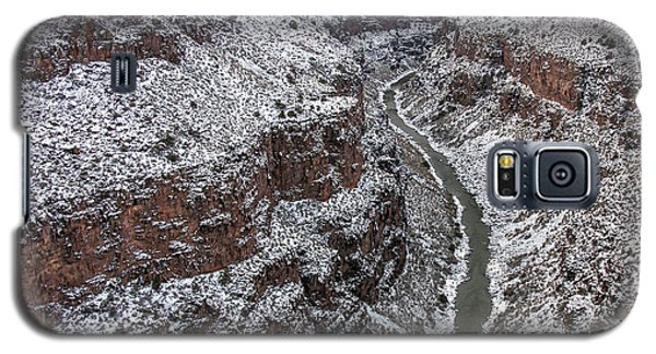 Galaxy S5 Case featuring the photograph Gorge In Snow by Britt Runyon