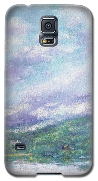 Galaxy S5 Case featuring the painting Gorgeous Lake Landscape by Judith Cheng