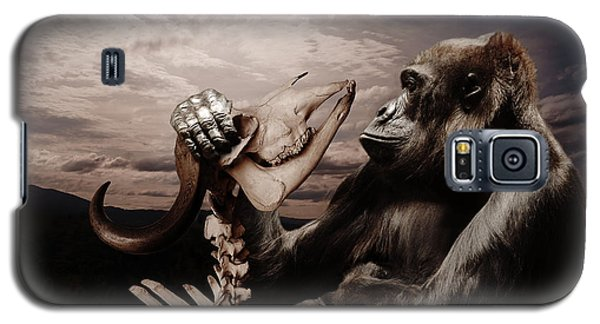 Galaxy S5 Case featuring the photograph Gorilla And Bones by Christine Sponchia