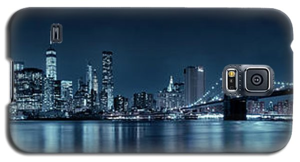 Galaxy S5 Case featuring the photograph Gotham City Skyline by Sebastien Coursol