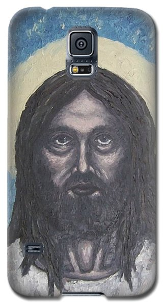 Galaxy S5 Case featuring the painting Gothic Jesus by Michael  TMAD Finney