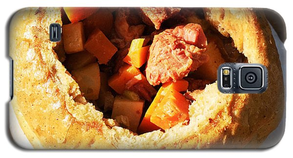 Food And Beverage Galaxy S5 Case - Goulash In Bread - Hungarian Food by Matthias Hauser