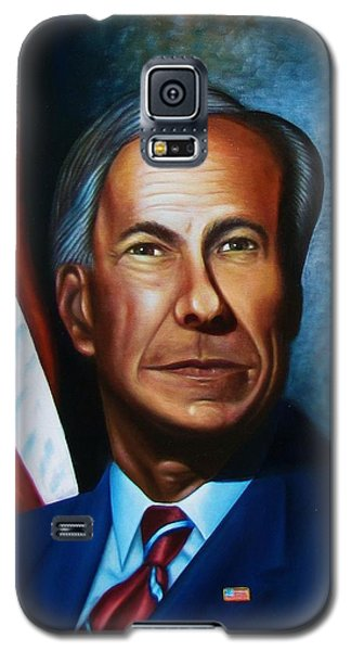 Galaxy S5 Case featuring the painting Gov Greg Abbott by Gene Gregory