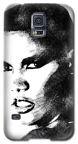 Grace Jones Bw Portrait Galaxy S5 Case by Mihaela Pater