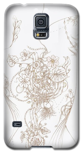 Galaxy S5 Case featuring the drawing Grace by Karen Robey
