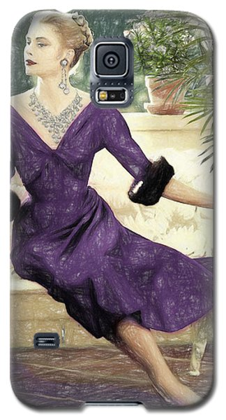 Grace Kelly Draw Galaxy S5 Case by Quim Abella