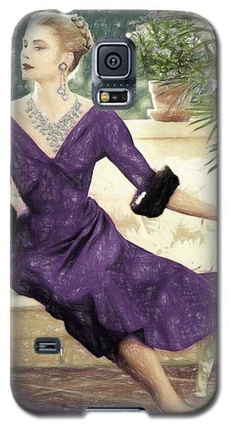 Grace Kelly Draw Galaxy S5 Case by Quim Abella