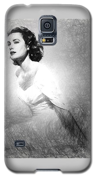 Grace Kelly Sketch Galaxy S5 Case by Quim Abella