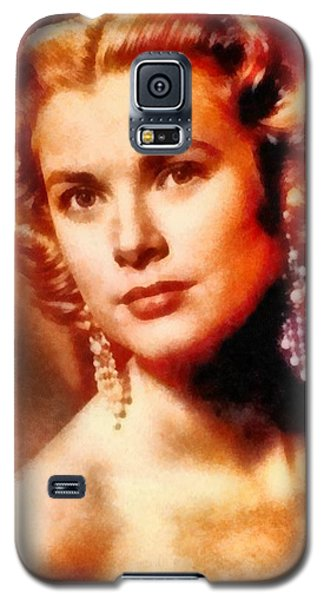 Grace Kelly, Vintage Hollywood Actress Galaxy S5 Case by Frank Falcon