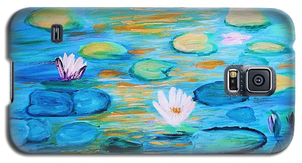 Galaxy S5 Case featuring the painting Graceful Pond From The Water Series by Donna Dixon