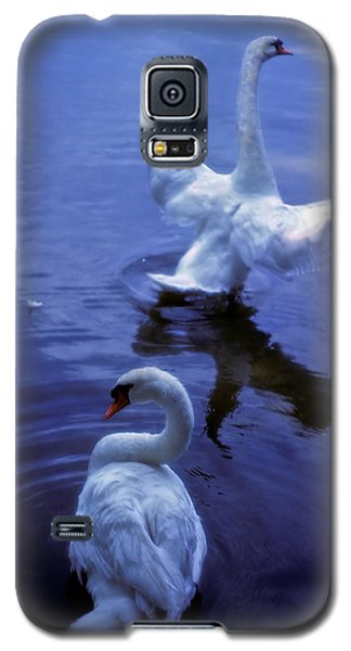 Galaxy S5 Case featuring the photograph Graceful Swans by Marie Hicks
