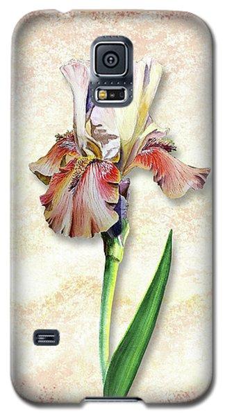 Galaxy S5 Case featuring the painting Graceful Watercolor Iris by Irina Sztukowski