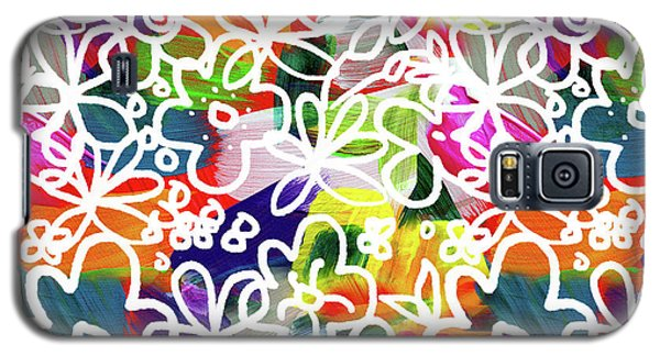 Galaxy S5 Case featuring the mixed media Graffiti Garden 2- Art By Linda Woods by Linda Woods