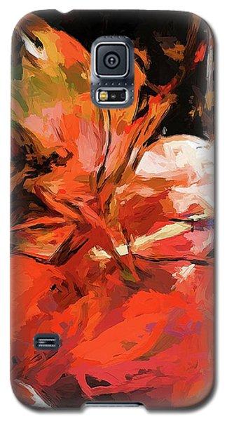 Graffiti Lily Orange Pink Splatter Galaxy S5 Case