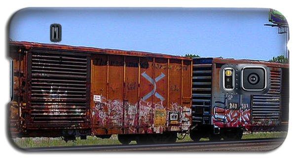 Graffiti Train With Billboard Galaxy S5 Case