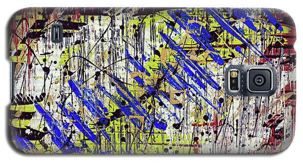 Galaxy S5 Case featuring the painting Graffitti by Cathy Beharriell