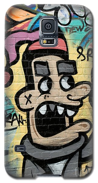 Galaxy S5 Case featuring the painting Graffity Angry Spray-paint Person by Yurix Sardinelly
