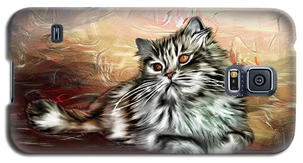 Galaxy S5 Case featuring the painting Grafitti Kitty by Tyler Robbins