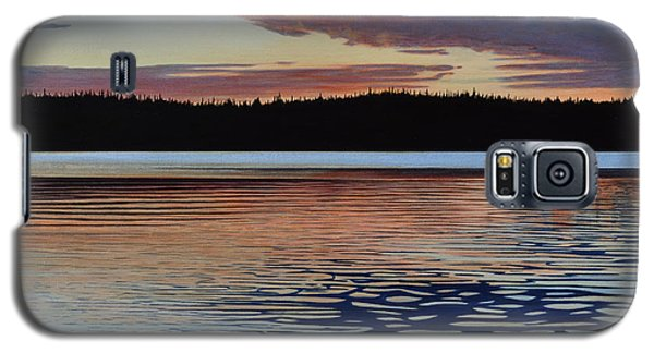 Galaxy S5 Case featuring the painting Graham Lake by Kenneth M Kirsch