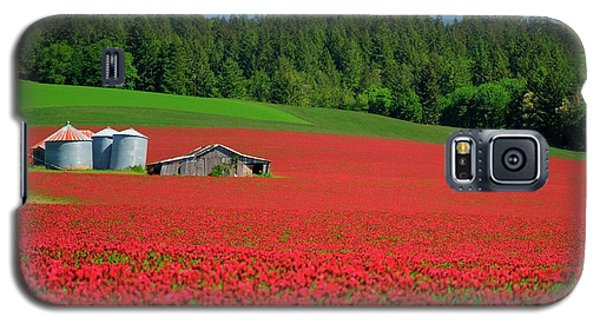 Grain Bins Barn Red Clover Galaxy S5 Case