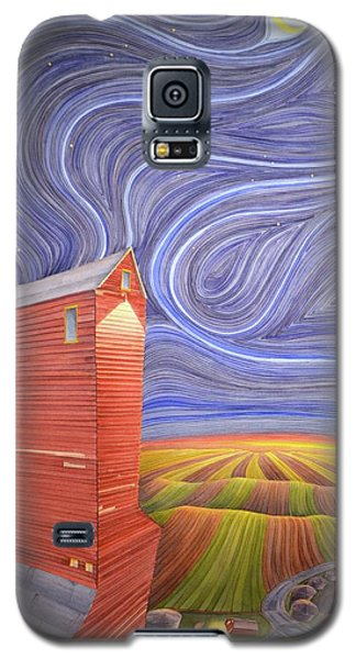 Galaxy S5 Case featuring the painting Grain Tower IIi by Scott Kirby