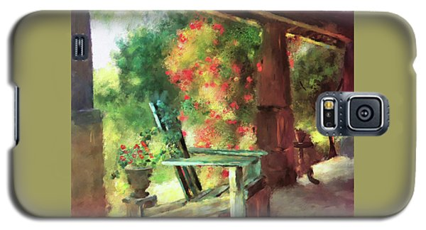 Galaxy S5 Case featuring the digital art Gramma's Front Porch by Lois Bryan